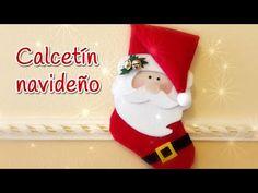 Como hacer bota de Navidad Paso a Paso - Manualidades - Santa Claus - YouTube