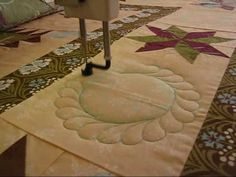 Quilting Feather Circle Video {Green Fairy Quilts}