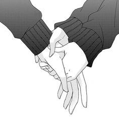 Image about black and white in Anime/Manga by Tia Anime Hand, Manga Couple, Couple Drawings, Cute Anime Couples, Anime Couples Hugging, Anime Couples Manga, Shoujo, Anime Love, Aesthetic Anime