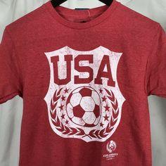 1451601c9e1 Copa America Centenario 2016 USA Soccer Mens T-Shirt Red Size Small Futbol