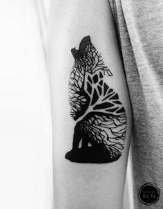 Bildergebnis für wolf tattoo