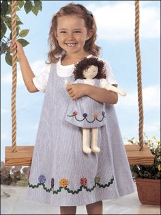 Sewing - Holiday & Seasonal Patterns - Spring Patterns - Dolly & Me Jumpers