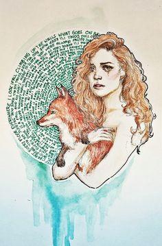 The Banshee And Her Fox by raskina.deviantart.com on @DeviantArt