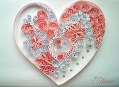 Heart quilling, by Tihana Poljak