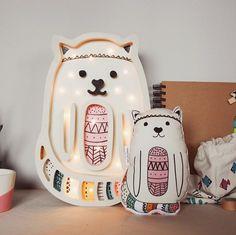 pokój dziecka - lampy-Lampka Kotek Wooden Toy Cars, Wood Toys, Foam Crafts, Wooden Crafts, Bear Makeup, Cactus Craft, Laser Cutter Projects, Mobiles, Luz Led