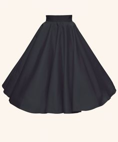 Classic 50s Circle Skirt by Vivien of Holloway. Made in London! If i had this i wold throw away all other black skirts!