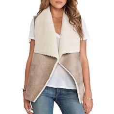 Shop for Velvet by Graham   Spencer Nia Faux Fur Vest in Camel at REVOLVE.  Free day shipping and returns e538b0da679e3
