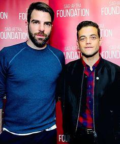 Zachary Quinto and Rami Malek