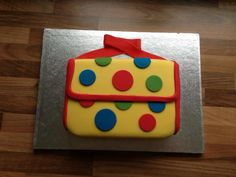 Mr Tumbles Spotty Bag cake - made for my youngest daughters 2nd Birthday!