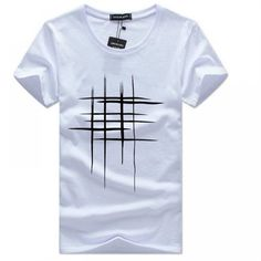 Cheap hip hop tops, Buy Quality hip hop directly from China hip hop style Suppliers: Simple creative design line cross Print T Shirts Men's New Arrival Summer Style Short Sleeve Men t-shirt 2017 O-Neck Hip Hop Top Cheap T Shirts, Casual T Shirts, Tee Shirts, Tees, Costume Blanc, Mens Cotton Shorts, Sport T-shirts, Tee Shirt Homme, Shirt Men