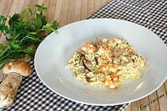 Risotto di mazzancolle e porcini Calamari, Risotto, Potato Salad, Cauliflower, Potatoes, Vegetables, Ethnic Recipes, Food, Cauliflowers