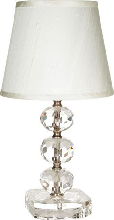 Maura Daniels Small Juliette Table Lamp Is Truly Elegant With Round Cut Crystals Along The Stem