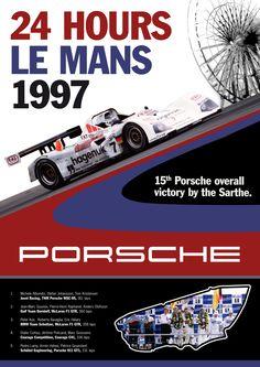 Porsche Le Mans 1997 Poster B