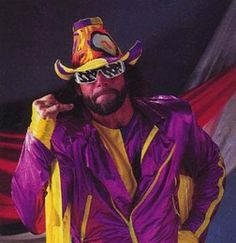 Macho Man Randy Savage. WWF, WCW superstar. WWE Legend. World Champion. RIP.