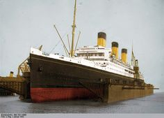 White Star Line's Majestic in drydock Granny's ship to America 1923