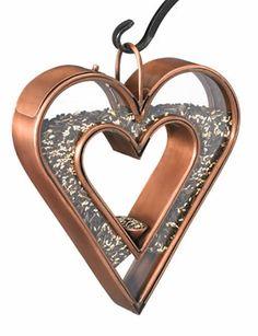Happy Valentine's Day! Heart Fly-Thru Bird Feeder at Duncraft