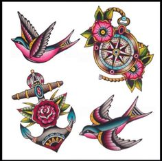 Image result for sailor jerry compass tattoos