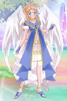 Belldandy from Oh My Goddess. Version two. Made by Shannon Stickel using doll divine's senshi maker.