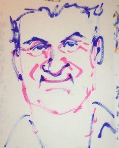 いいね!6件、コメント1件 ― @1mindrawのInstagramアカウント: 「#1mindraw #jeanalesi #ジャンアレジ #F1 #19640611 #birthday #誕生日 #portrait #筆ペン画」