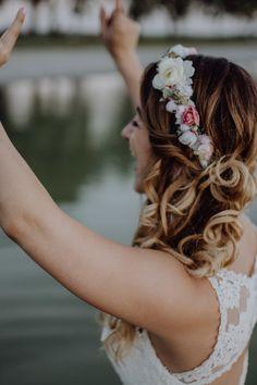 We Are Flowergirls- Flowercrown- Weddingcrown_ Headpiece-Accessoire-Handmade-Hairaccessoire- Headband Jasmin, Boho, Handmade Flowers, Portrait, Flower Crown, Marriage, Headpiece, Hair, Wedding