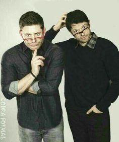 Jensen and Misha, dorks