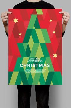 Christmas Card Greetings Business Sayings : Modern geometric christmas card flyer template. Modern Christmas Cards, Business Christmas Cards, Christmas Flyer, Christmas Poster, Christmas Graphics, Christmas Gifts, Christmas Graphic Design, Christmas Tree Design, Birthday Card Design