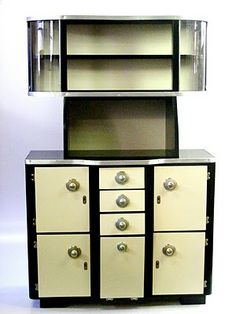White Kitchen Dresser art deco kitchens | art deco kitchen dresser, with… | [=] art deco