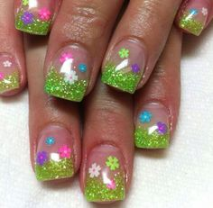 Spring Nails so cute!