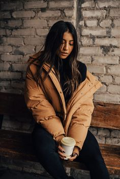 c381bd2b61 puffer jacket tan H M trend coat winter style blogger kayla seah not your  standard blog fashion