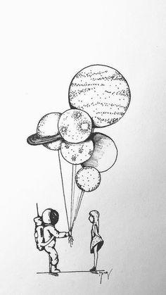 doodle art * doodle art & doodle art journals & doodle art for beginners & doodle art easy & doodle art patterns & doodle art drawing & doodle art creative & doodle art letters Space Drawings, Cool Art Drawings, Pencil Art Drawings, Art Drawings Sketches, Easy Drawings, Tumblr Drawings, Ink Illustrations, Doodle Art, Drawing Wallpaper