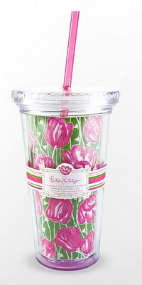 Tulips Lilly pulitzer tumbler!