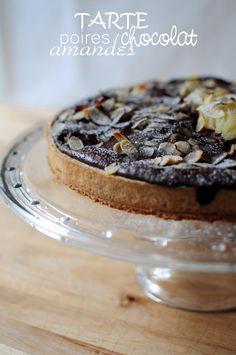 Tarte aux poires, chocolat et amandes de Stéphane Glacier