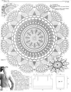 55 Ideas Hat Crochet Chart Doilies For 2019 Crochet Doily Diagram, Crochet Mandala Pattern, Crochet Chart, Thread Crochet, Filet Crochet, Crochet Patterns, Hat Crochet, Dress Patterns, Knit Rug