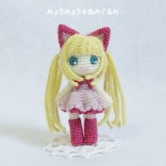 niña gata amigurumi pagina japonesa
