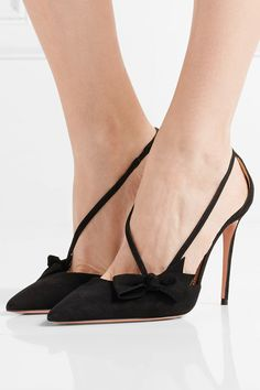 289f4d82efbe Aquazzura - Parisienne bow-embellished suede pumps. High Heels 2017Parisienne  ...