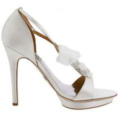 Dani By Badgley Mischka in Diamond White http://www.bellissimabridalshoes.com/wedding-heels/high-heel-wedding-shoes/Diamond-White-Badgley-Mischka-Dani-Bridal-Shoes
