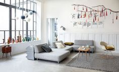 Beautiful living space in a converted waffle factory in France! Modern, fresh & quirky.
