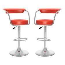 CorLiving Adjustable Red Leatherette Open Back Bar Stool (Set of - The Home Depot Living Room Furniture, Furniture Sets, Back Bar, Red Cushions, Adjustable Bar Stools, Bar Chairs, Clean Design, Foot Rest, Contemporary Design