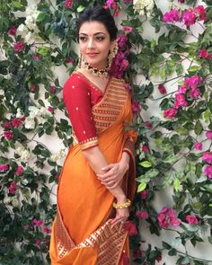 Likes, 13 Comments - Kajal Indian Beauty Saree, Indian Sarees, Indian Wedding Outfits, Indian Outfits, Indian Attire, Indian Wear, Indian Style, Kajal Agarwal Saree, Saree Poses