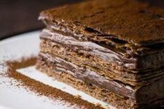 Un mille-feuilles léger et croustillant au goût intense de chocolat. Cooking-Chef