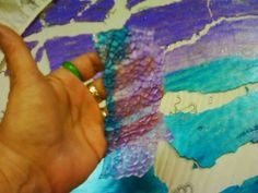 Shower door mosaic~A tutorial on crash glass - Stuff From the Bunker Art Studio