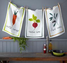French Farmers Market Traditional Linen Dish Tea Towel