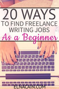 Are you interested in writing? Here is a list of 20 quality ways to find freelance writing jobs! A year ago I was just a mom to twins. Now I have a booming freelance writing business. I quickly learned all the BEST ways to land well-paying free Make Money Writing, Make Money Blogging, Way To Make Money, Writing Tips, Creative Writing, Money Fast, Earning Money, Blogging Ideas, Writing Prompts