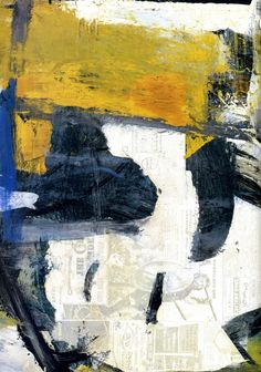 Willem de Kooning, Easter Monday, 1955-56. Detail. He  transferred newspaper images into the wet oil paint.