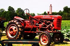 """Second tractor I likely drove.  A1940's Farmall super """"A"""""""