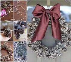 Are you looking for Christmas decorating ideas? This is an easy and quick way to make Christmas wreath. Click below link for tutorial. DIY Pinecone Wreath