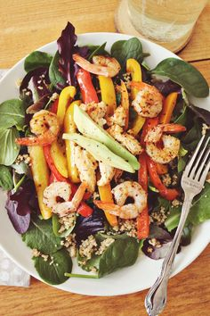 Quinoa Fajita Salad  #vegetables #health