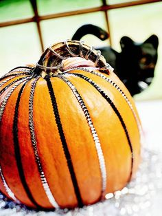 Sequin-Striped Pumpkin
