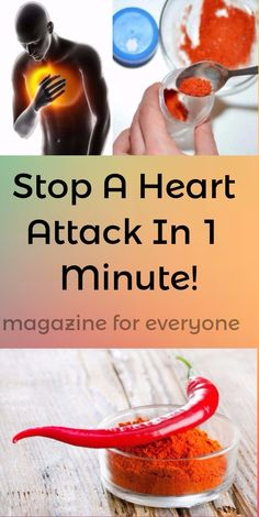 Majority of us still do not know that we can stop a heart attack with one item only and in 1 minute.