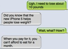 Funny text - I need to lose weight - http://www.jokideo.com/
